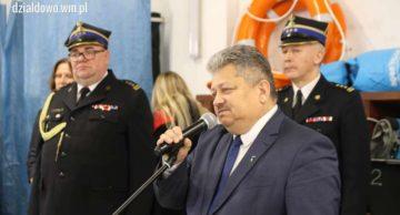 Pożegnanie komendanta Państwowej Powiatowej Straży Pożarnej w Działdowie