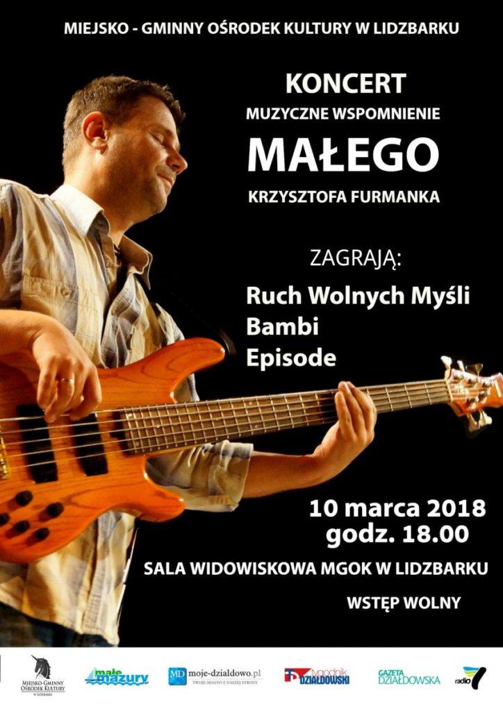 Zaproszenie na koncert rockowy do Lidzbarka