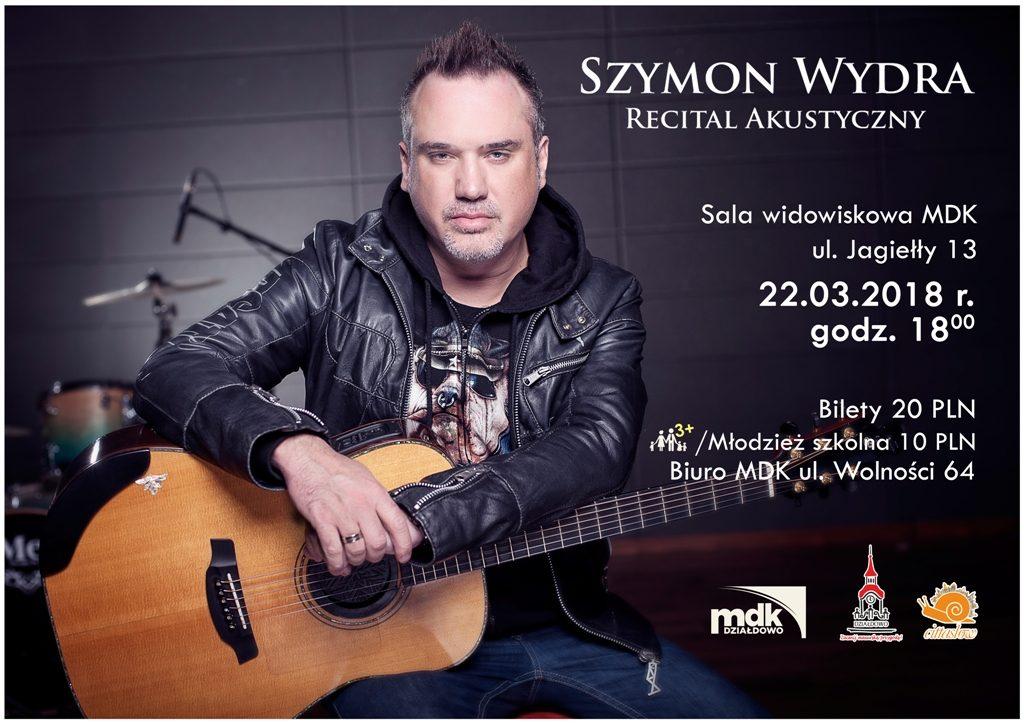 Zaproszenie na koncert Szymona Wydry