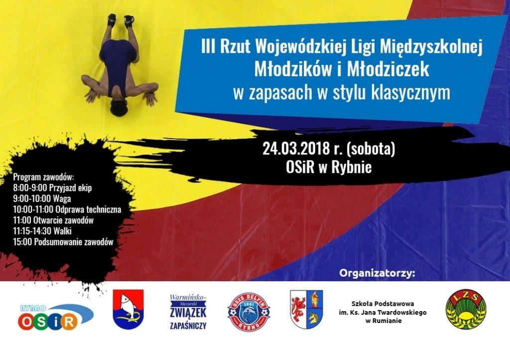 Zaproszenie na turniej zapaśniczy do Rybna