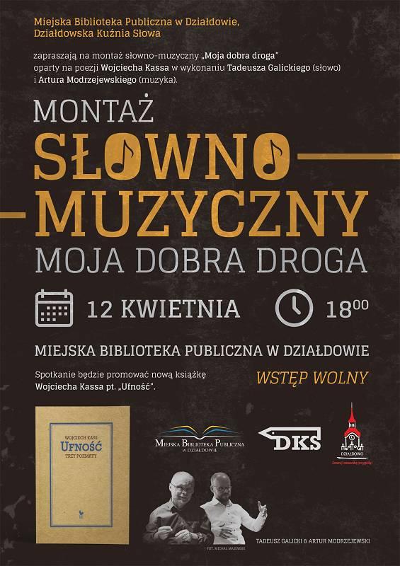 """""""Moja dobra droga"""" – Poezja Wojciecha Kassa w działdowskiej MBP"""