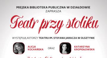 """""""Zabierz mnie na Księżyc"""" – Teatr przy Stoliku w działdowskiej MBP"""