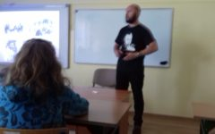 Lekcja historii w Szkole Podstawowej w Niechłoninie