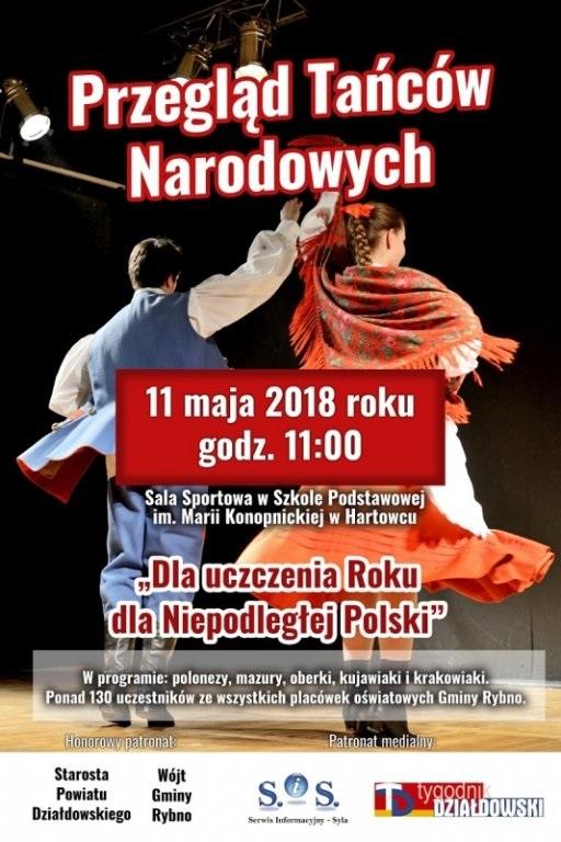 Zaproszenie na Przegląd Tańców Narodowych do Hartowca