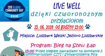 Zaproszenie na II Bieg na Sześć Łap do Lidzbarka