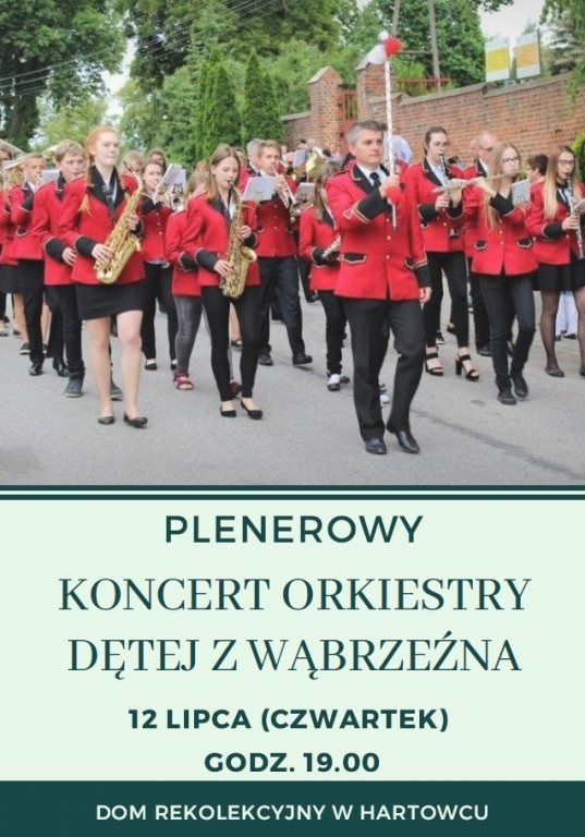 Zaproszenie na koncert orkiestry dętej do Hartowca
