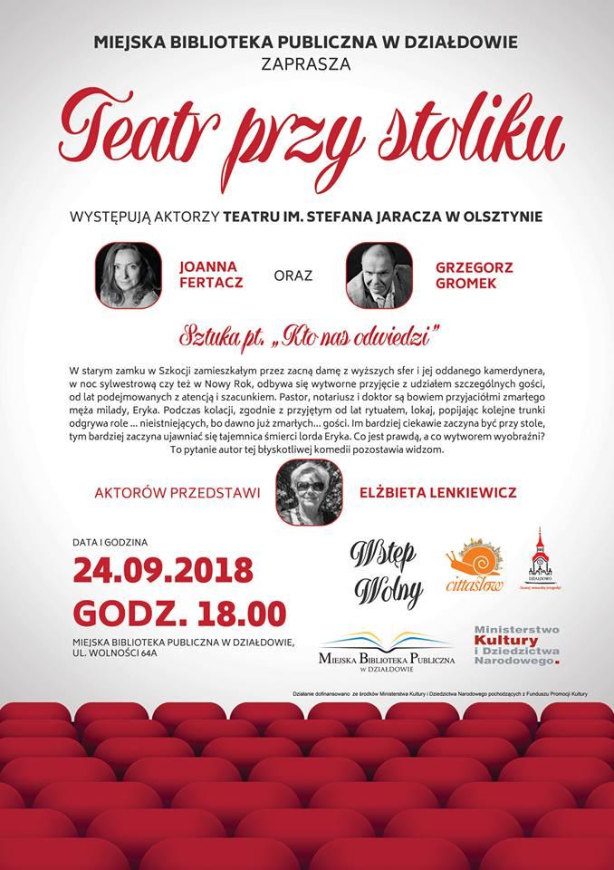 """""""Kto nas odwiedzi?"""", czyli Teatr przy Stoliku w działdowskiej MBP"""