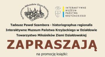 Zaproszenie na promocję książki Tadeusza Szambory