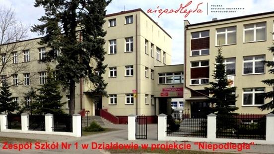"""Zespół Szkół Nr 1 w Działdowie w ministerialnym projekcie """"Niepodległa"""""""
