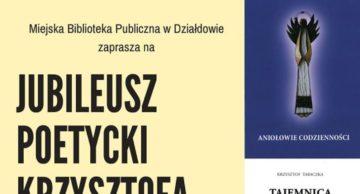 Zaproszenie na jubileusz poetycki Krzysztofa Tabaczki