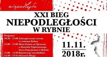 Zaproszenie na XXI Bieg Niepodległości do Rybna