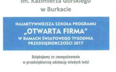 """Szkoła Podstawowa w Burkacie """"Najaktywniejszą Szkołą""""!"""