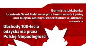 Zaproszenie na obchody 100-lecia niepodległości Polski do Lidzbarka