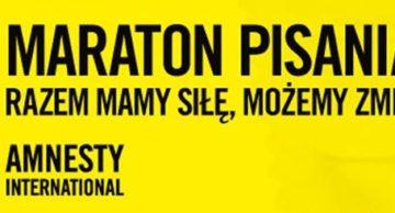 Weź udział w Maratonie Pisania Listów z Amnesty International!