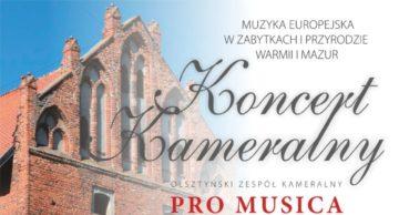 Zaproszenie na koncert zespołu Pro Musica Antiqua