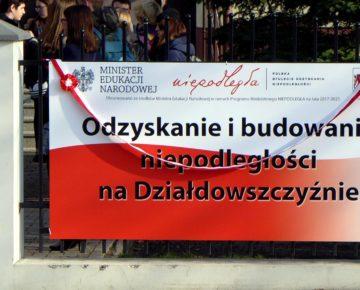"""Podsumowanie projektu """"Niepodległa"""" w działdowskim ZS nr 1 (film)"""