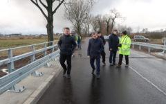 """Odbiór inwestycji drogowej: """"Przebudowa mostu w ciągu drogi powiatowej nr 1304 N  na odcinku pomiędzy  Przełękiem a Jabłonowem JNI  01003837″"""