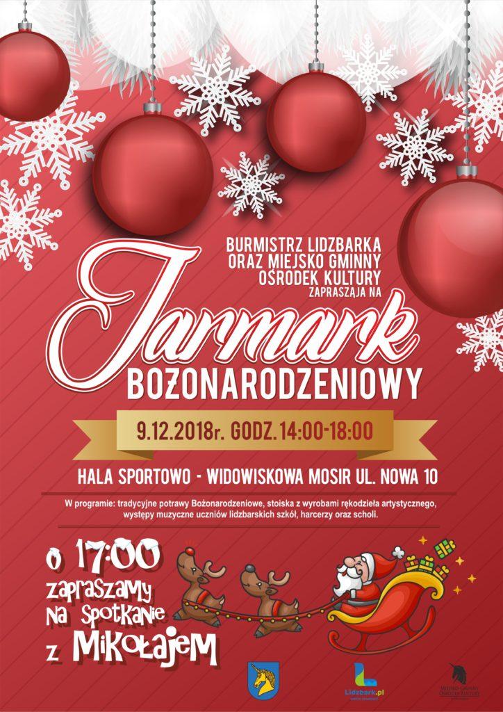 Zaproszenie na Jarmark Bożonarodzeniowy do Lidzbarka