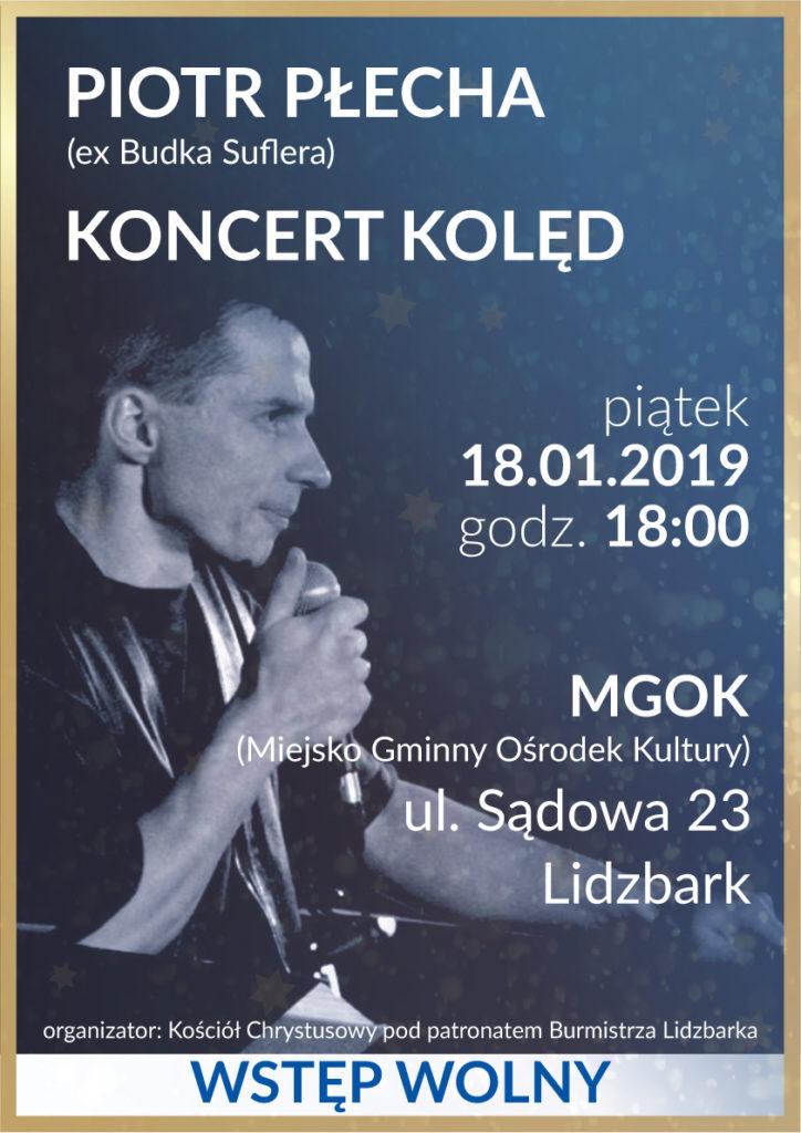 Zaproszenie na koncert kolęd do Lidzbarka