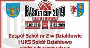 Zaproszenie na turniej koszykówki Basket Cup 2019 Działdowo