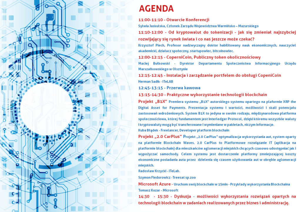 """Weź udział w konferencji """"Copernicoin Bloockchain Event"""""""