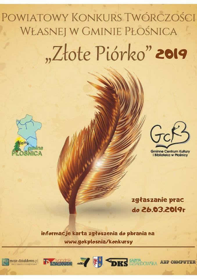 """Już wkrótce """"Złote Piórko 2019""""!"""
