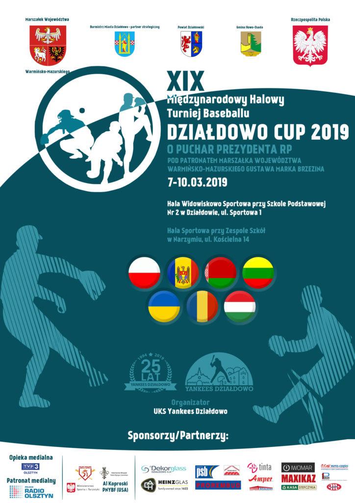 """Początek XIX Międzynarodowego Halowego Turnieju Baseballu """"Działdowo Cup 2019"""" już 8 marca!"""