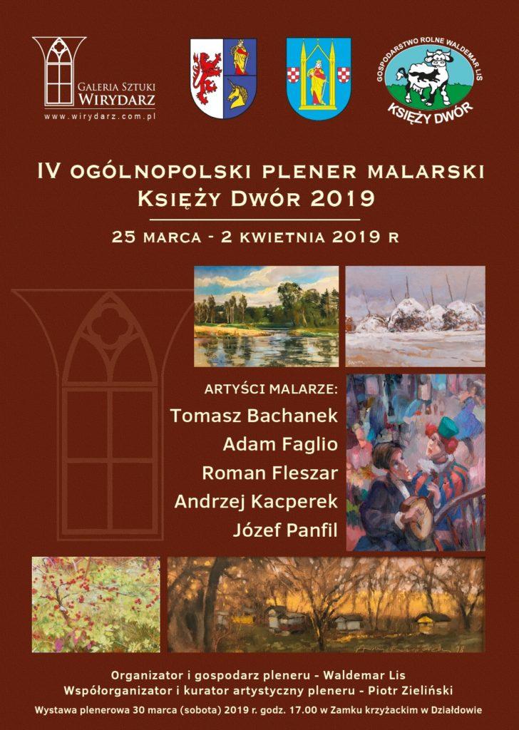 Zaproszenie na IV Ogólnopolski Plener Malarski Księży Dwór 2019