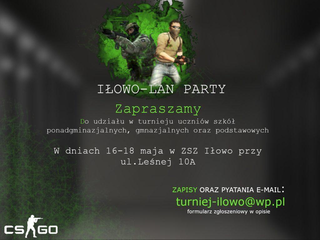 Zaproszenie na Lan Party do iłowskiego ZSZ
