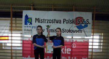 Świetny występ tenisistek stołowych z działdowskiej SP 2!