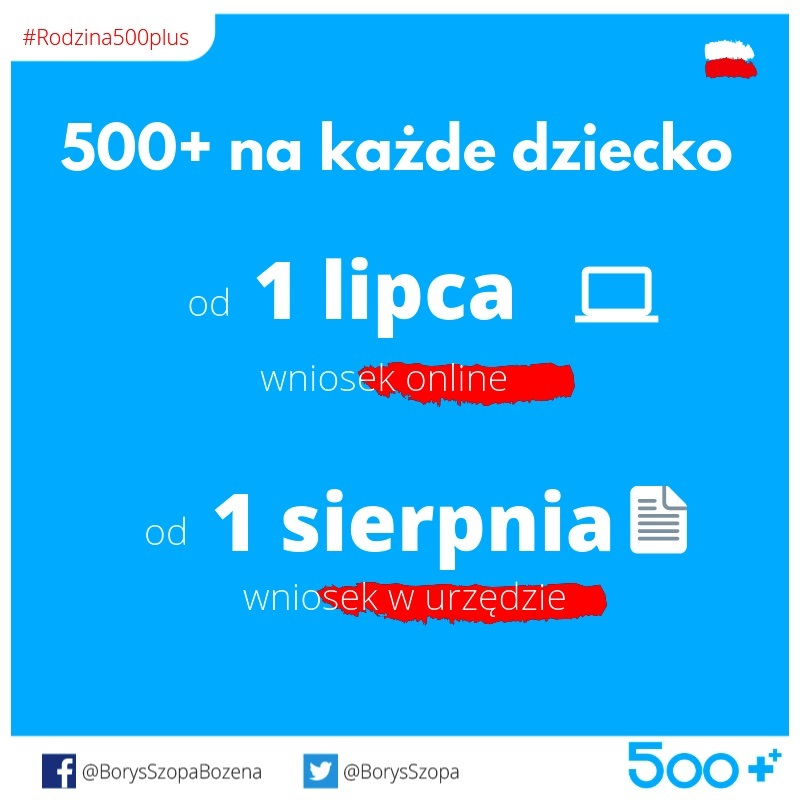 Kampania promująca rozszerzenie rządowego programu Rodzina 500+
