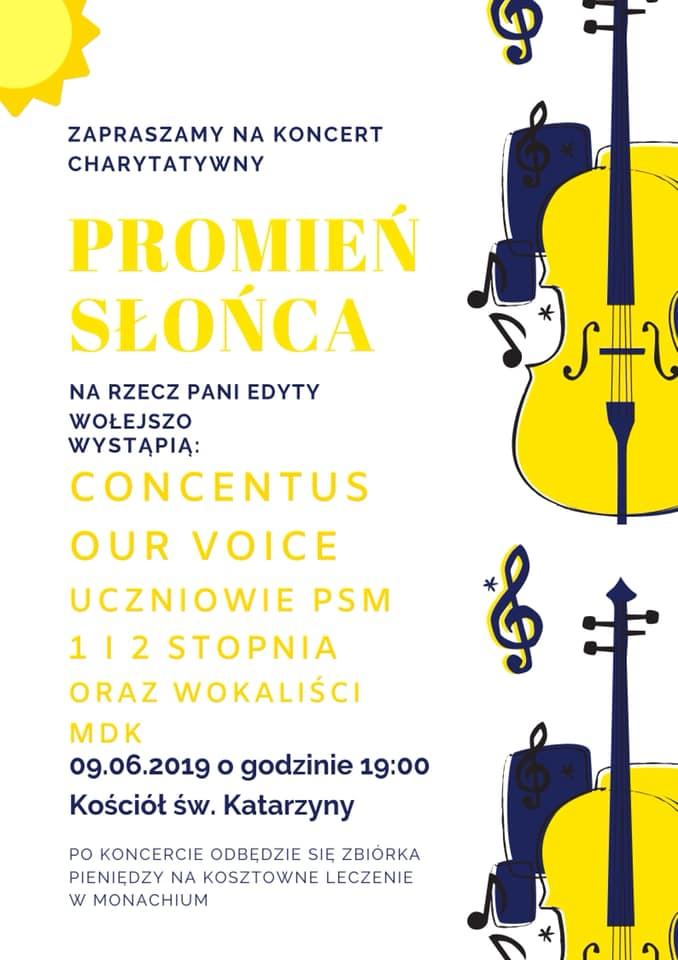 Zaproszenie na koncert charytatywny