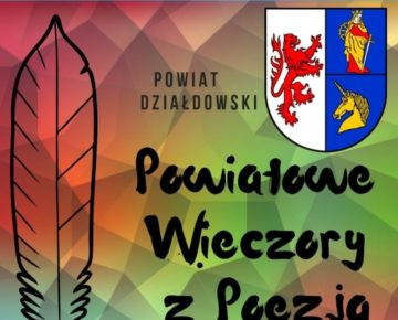 Powiatowe Wieczory z Poezją już po raz siódmy!