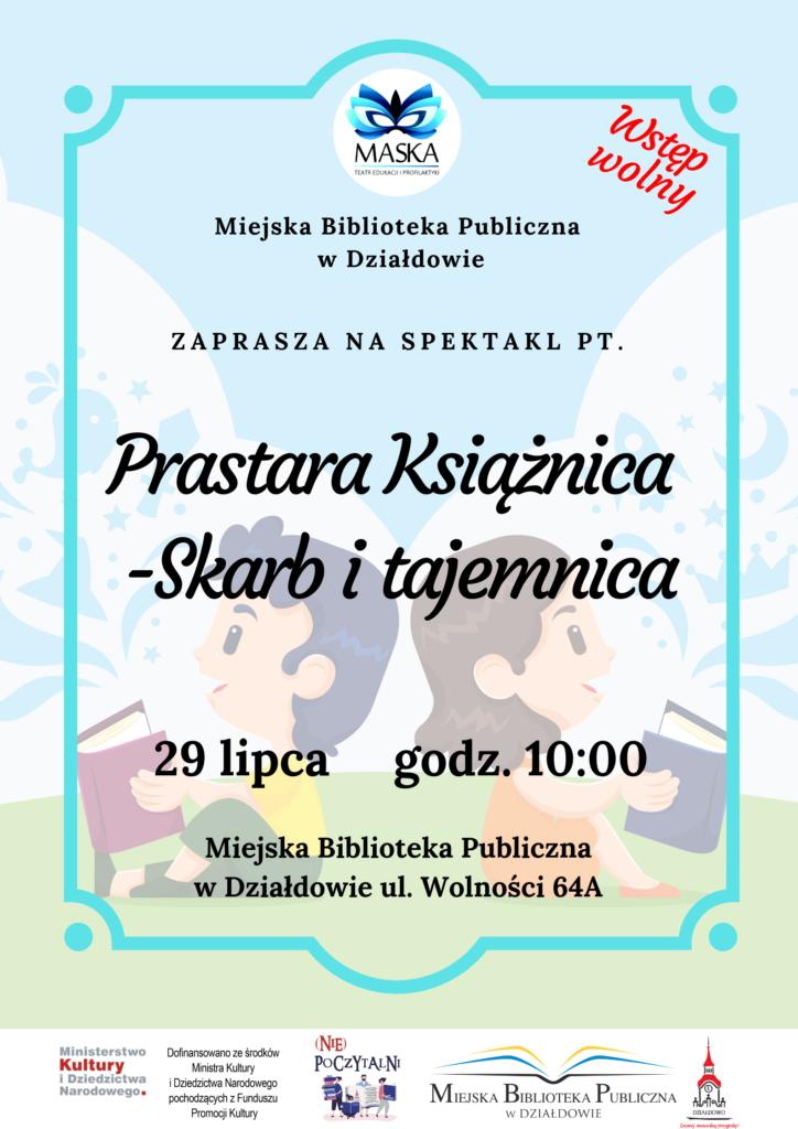 Zaproszenie na spektakl do działdowskiej MBP