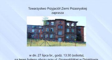 Zaproszenie na wspólną modlitwę za zamordowanych w obozie Soldau