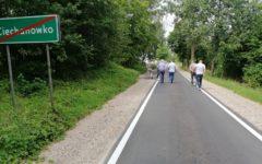 """Odbiór inwestycji drogowej pn. ,,Przebudowa drogi powiatowej nr 1351 Chełsty-Ciechanówko, etap I od km 1+700 do km 2+529"""""""