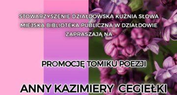 Zaproszenie na promocję tomiku poezji