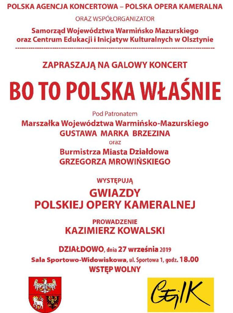 Zaproszenie na koncert.