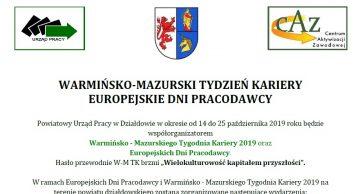 WARMIŃSKO-MAZURSKI TYDZIEŃ KARIERY I EUROPEJSKIE DNI PRACODAWCY