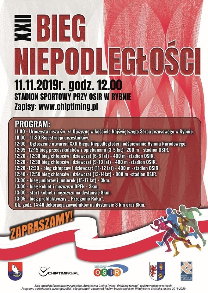 Już wkrótce XXII Bieg Niepodległości w Rybnie!