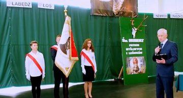 Poświęcenie sztandaru Zespołu Szkół Technicznych i Ogólnokształcących w Iłowie-Osadzie (film)