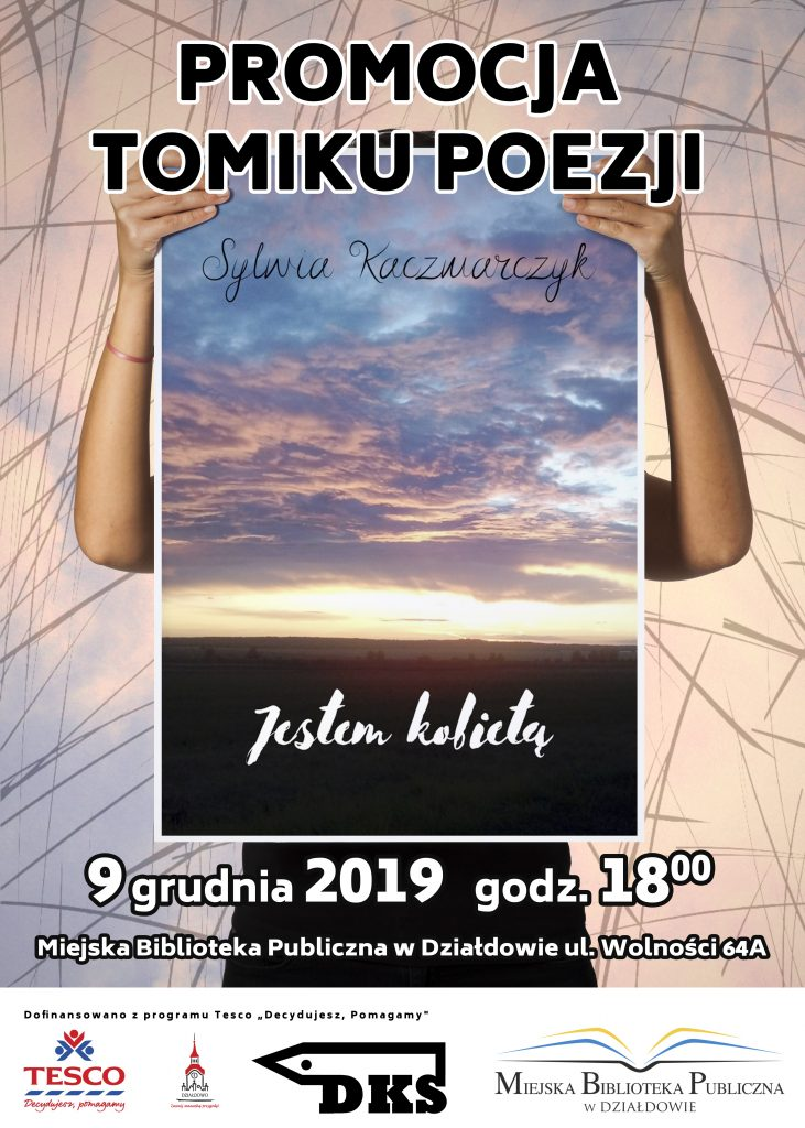 Zaproszenie na promocję zbioru wierszy Sylwii Kaczmarczyk
