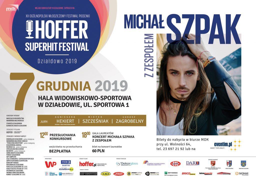Michał Szpak gwiazdą tegorocznej edycji Hoffer Superhit Festival!