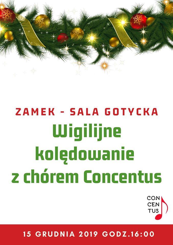 Zaproszenie na kolędowanie z chórem Concentus