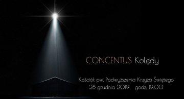Zaproszenie na koncert kolęd chóru Concentus