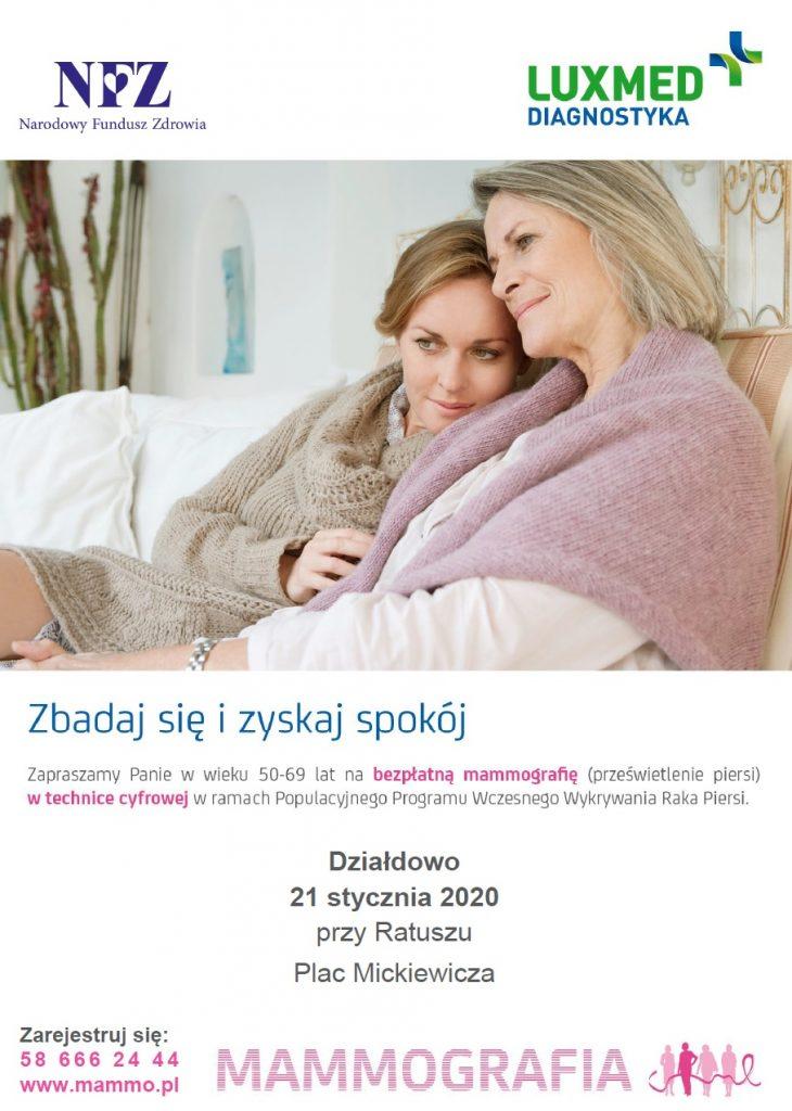Zbadaj się i zyskaj spokój! Zaproszenie na bezpłatne badania mammograficzne