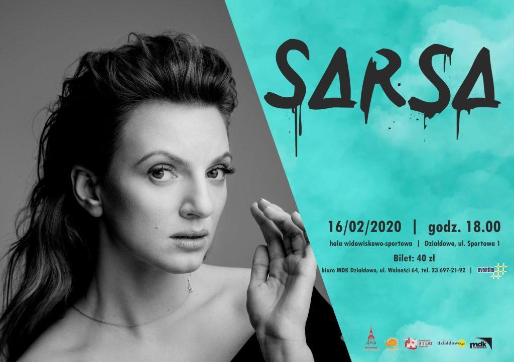 Zaproszenie na koncert Sarsy