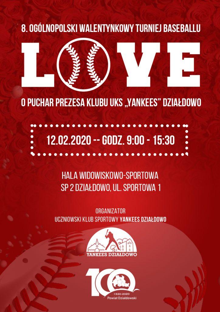 Już wkrótce 8. Ogólnopolski Walentynkowy Turniej Baseballu o Puchar Starosty!