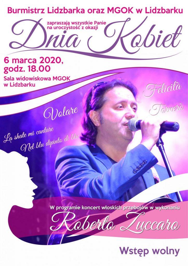 Zaproszenie na koncert z okazji Dnia Kobiet w Lidzbarku