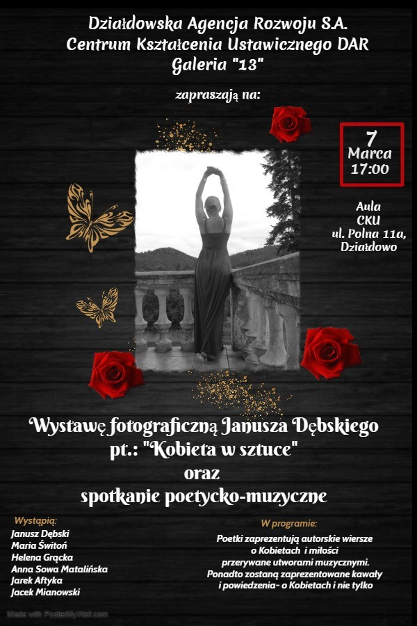 """""""Kobieta w sztuce"""" – zaproszenie na wystawę fotograficzną i spotkanie poetycko-muzyczne"""